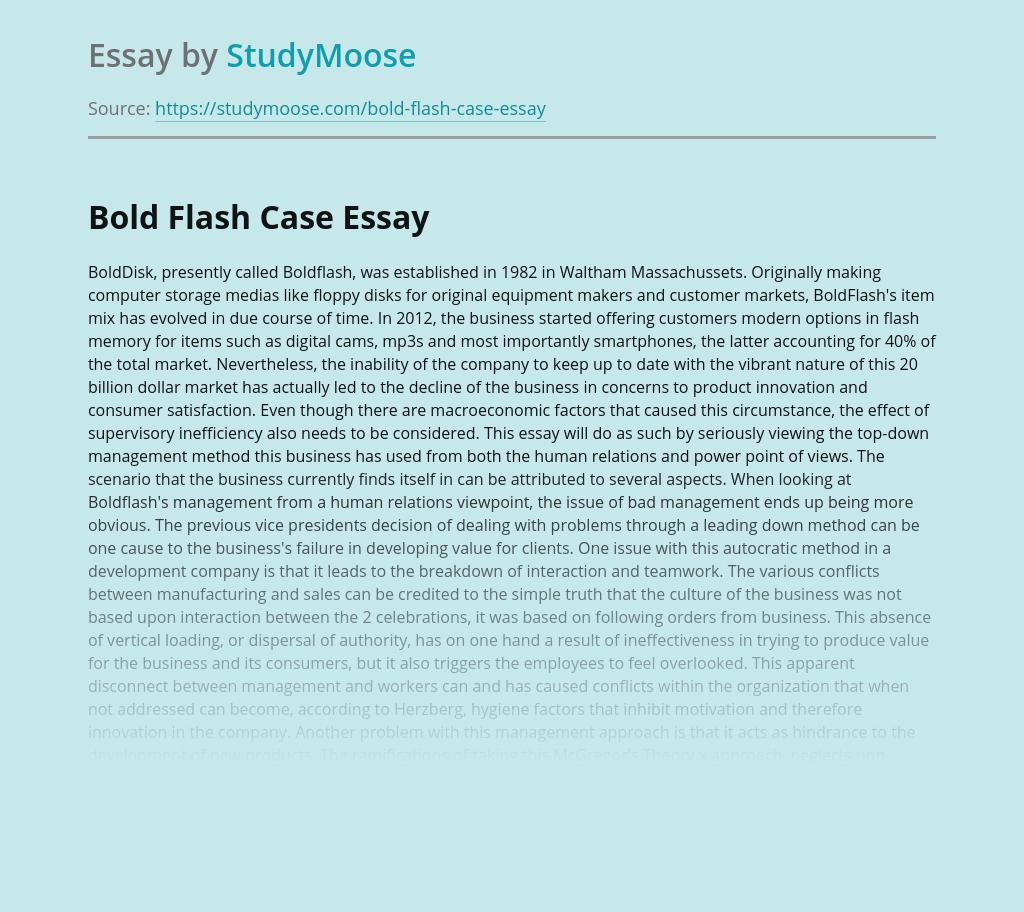 BoldFlash Business Management Case