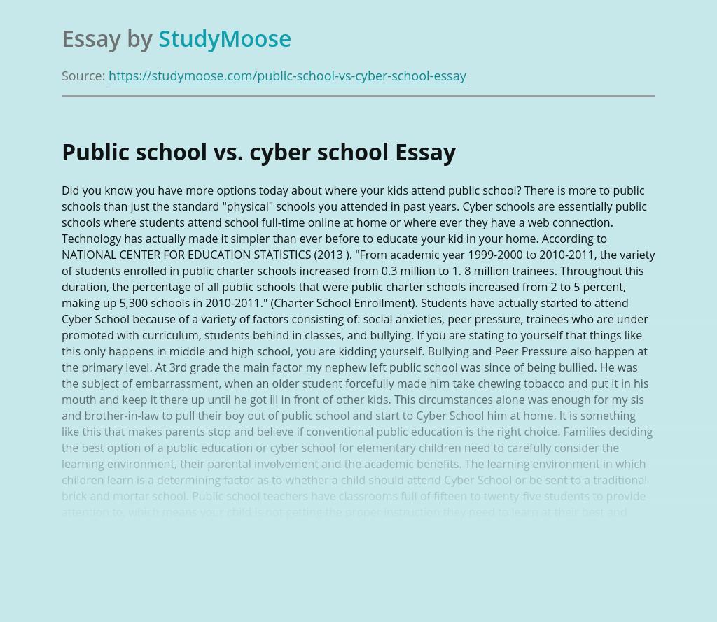 Public school vs. cyber school