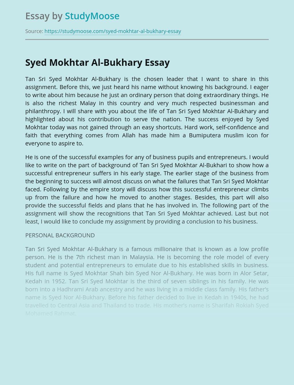 Syed Mokhtar Al-Bukhary