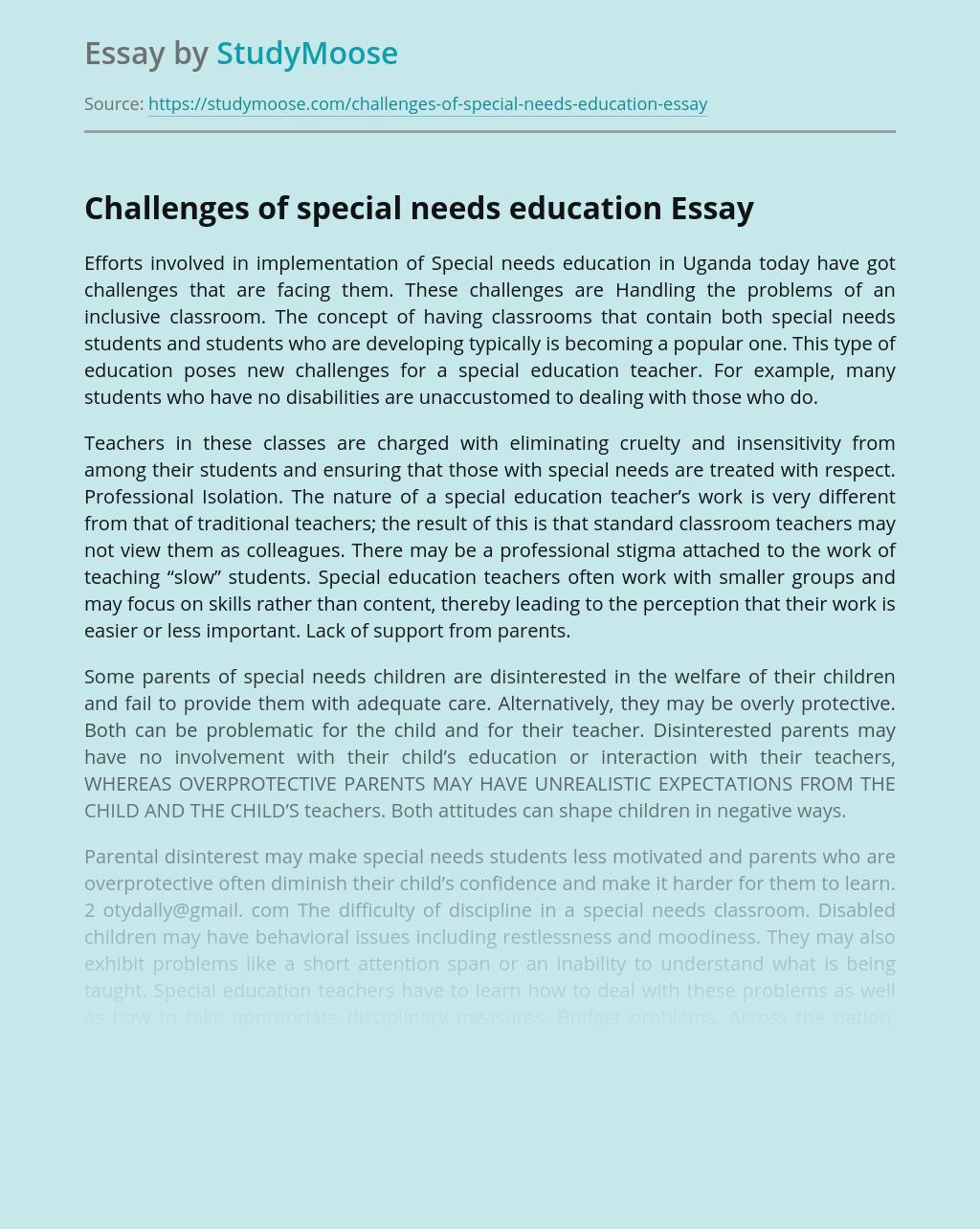 Special educational needs essay scholarships essay topics