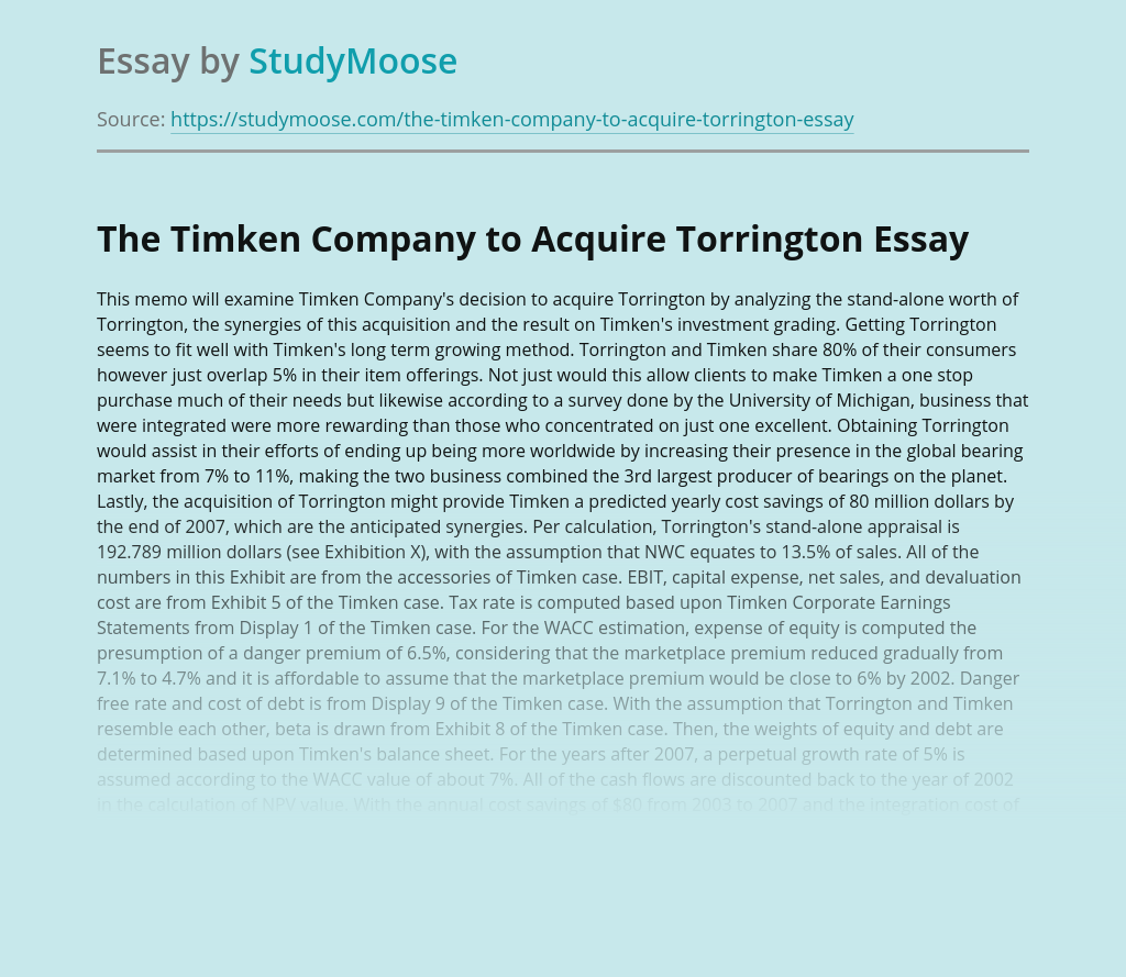 The Timken Company to Acquire Torrington