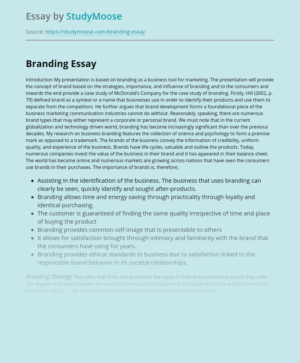 Branding as a Tool for Marketing
