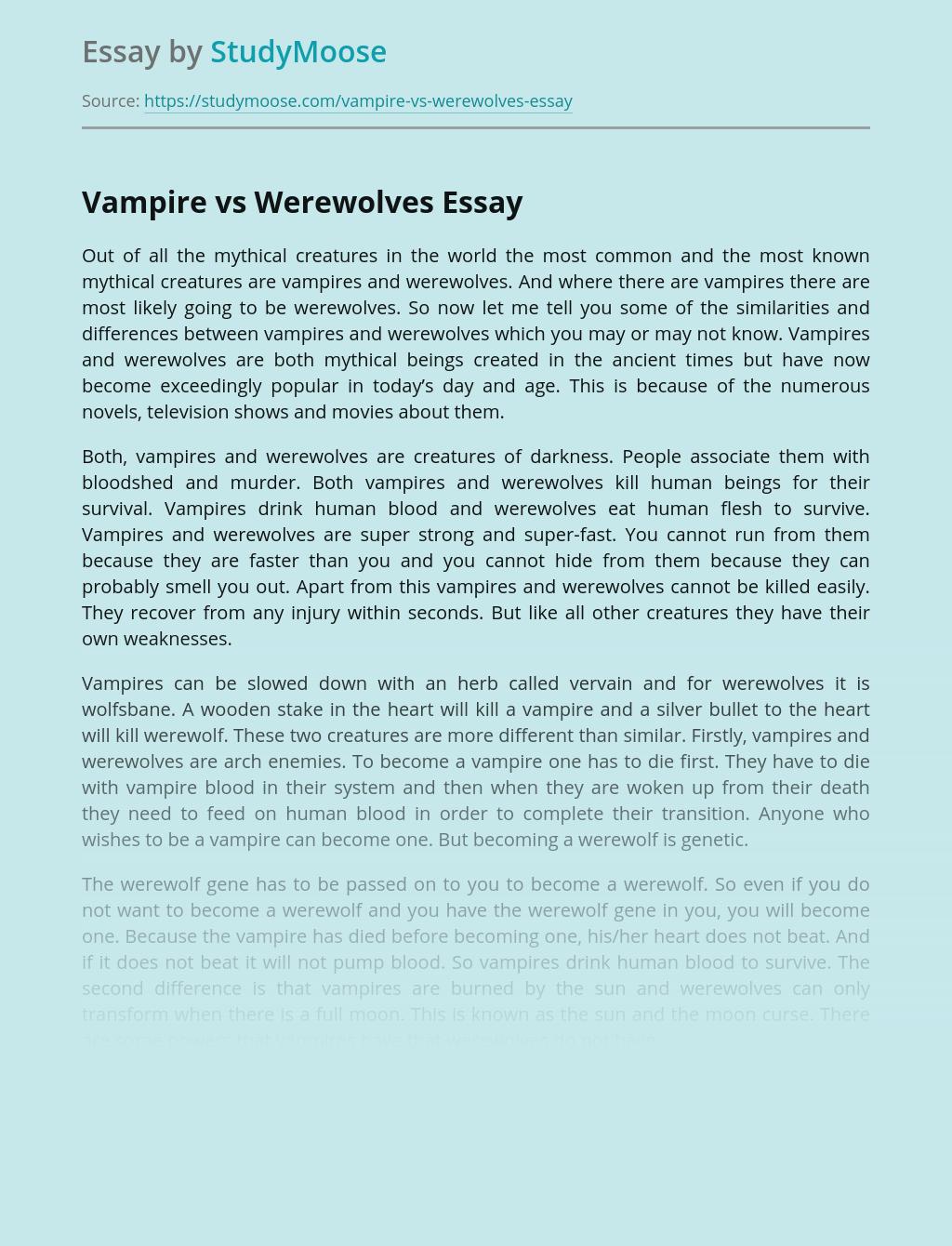 Vampire essay conclusion advantages of intergration in schools essay