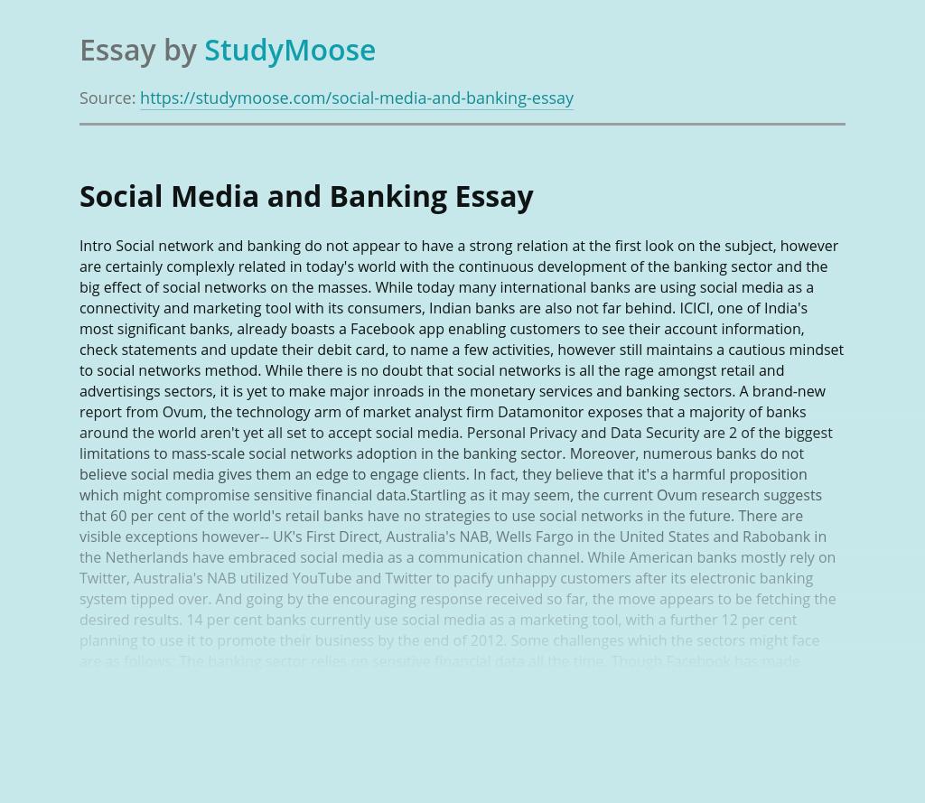 Social Media and Banking