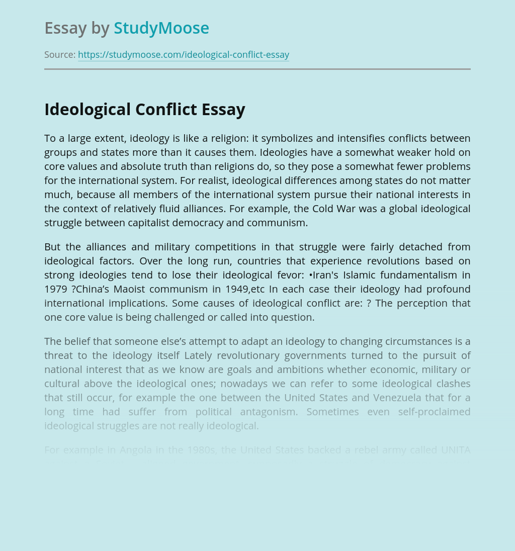 Ideological Conflict