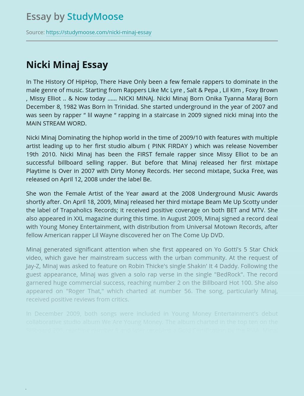 In The History Of HipHop - Nicki Minaj