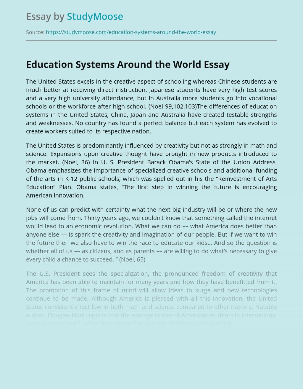 Education Systems Around the World