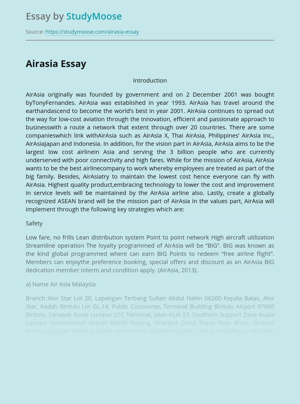 Airline company - AirAsia