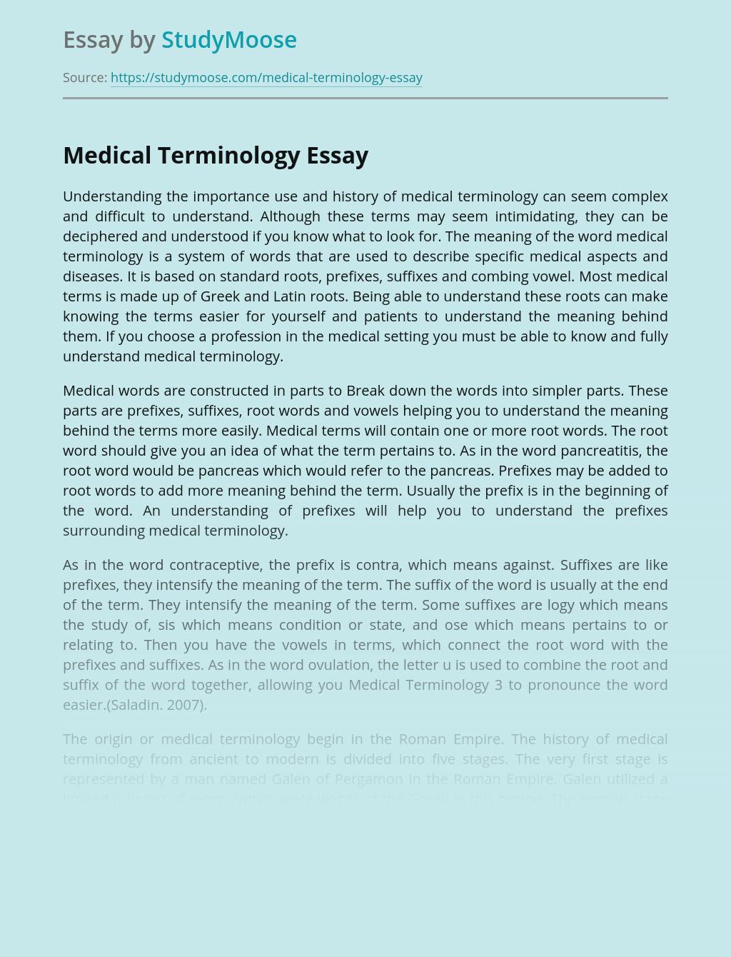 Terminology of Modern Medicine