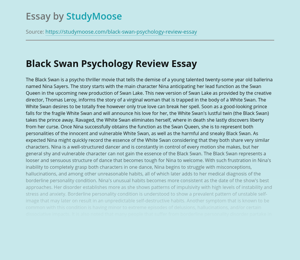 Black Swan Psychology Review