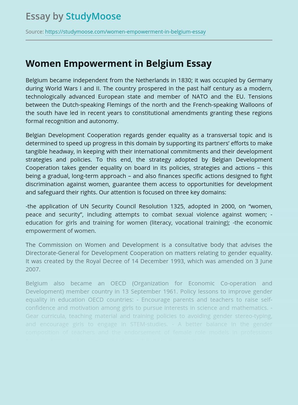 Women Empowerment in Belgium