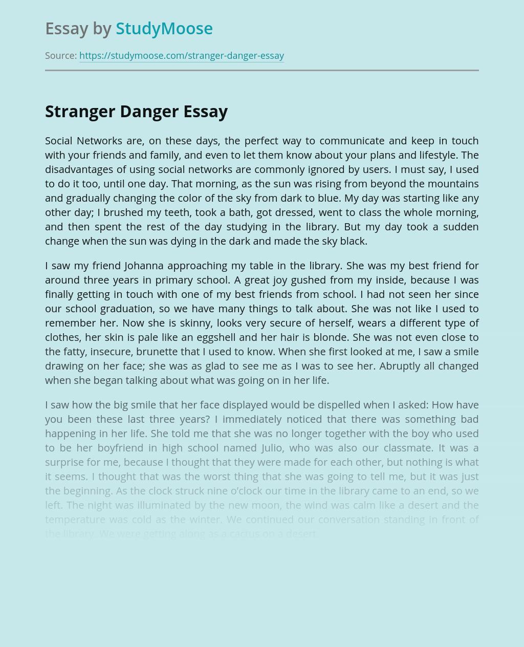 Stranger Danger in Social Networks