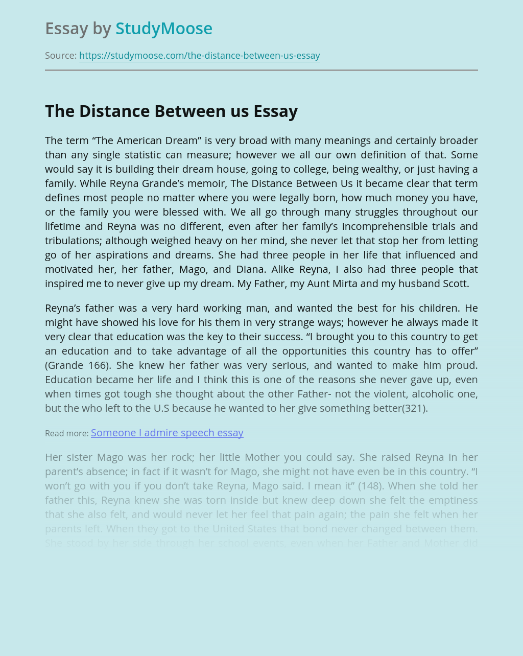 The Distance Between us Book Review