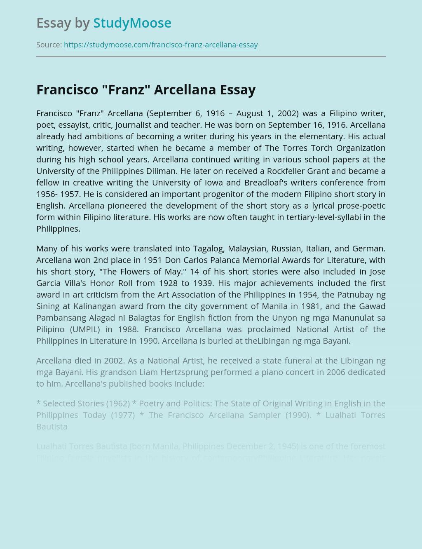 """Francisco """"Franz"""" Arcellana"""