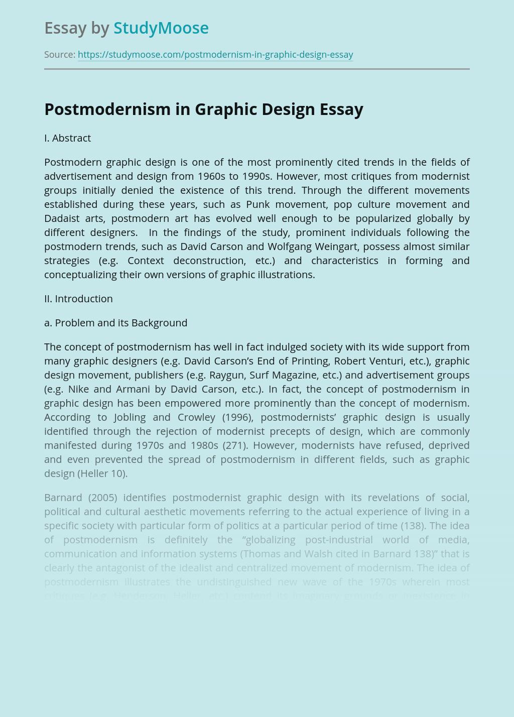 Postmodernism in Graphic Design