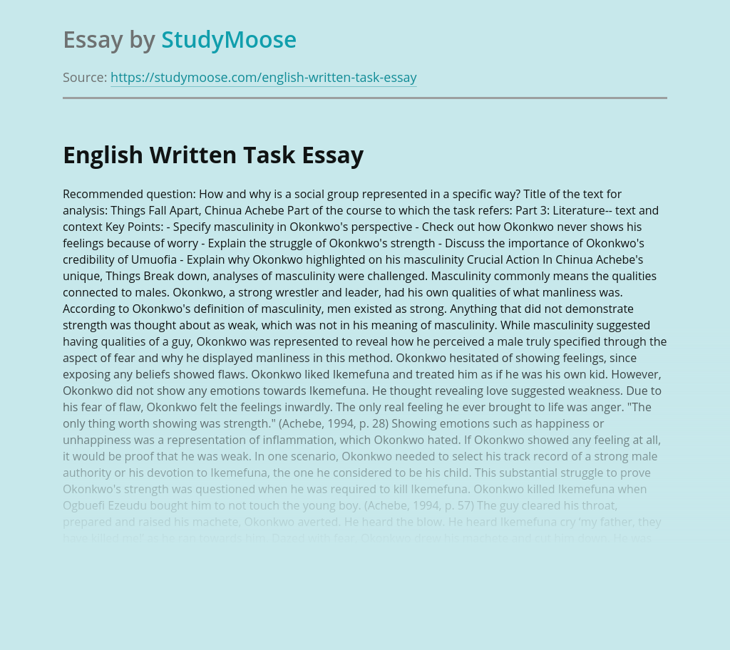 English Written Task