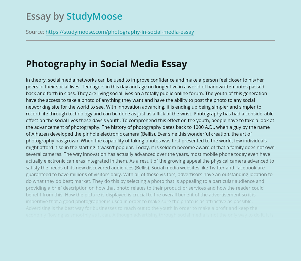 Photography in Social Media