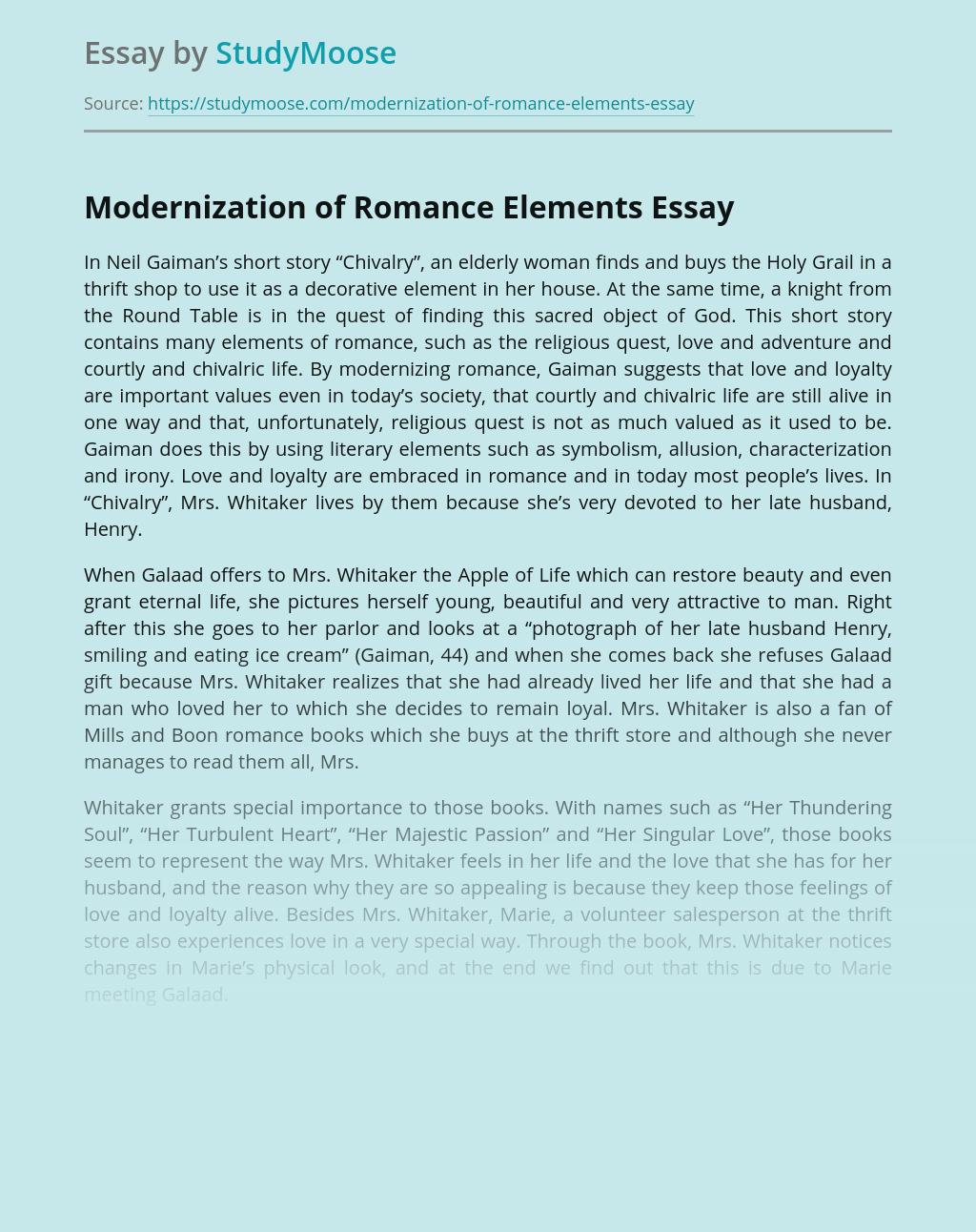 Modernization of Romance Elements