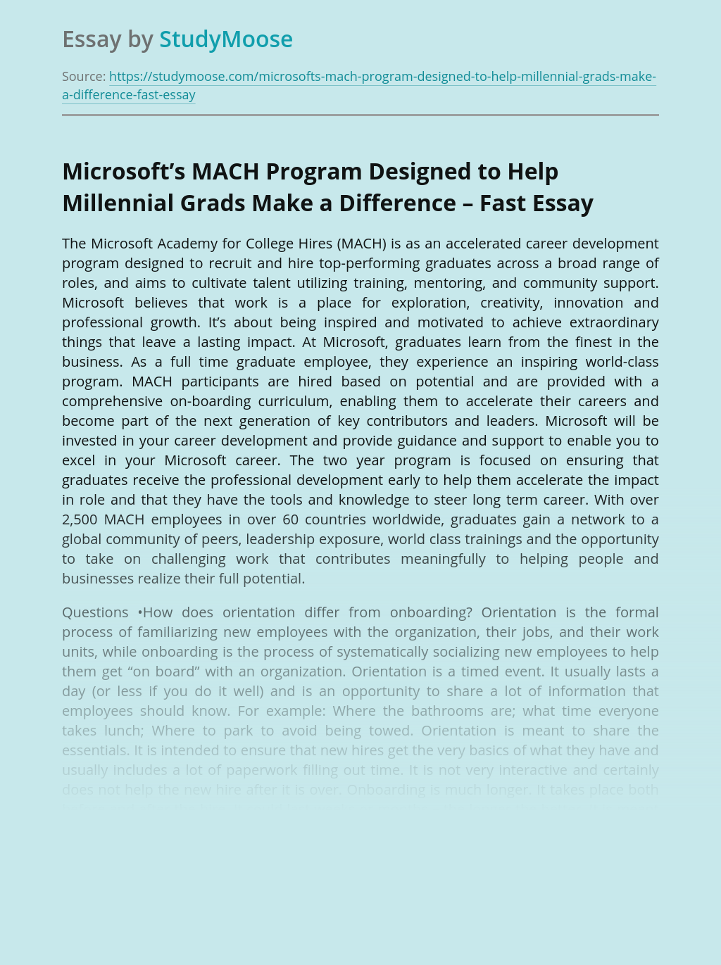 Microsoft's MACH Program Designed to Help Millennial Grads Make a Difference – Fast