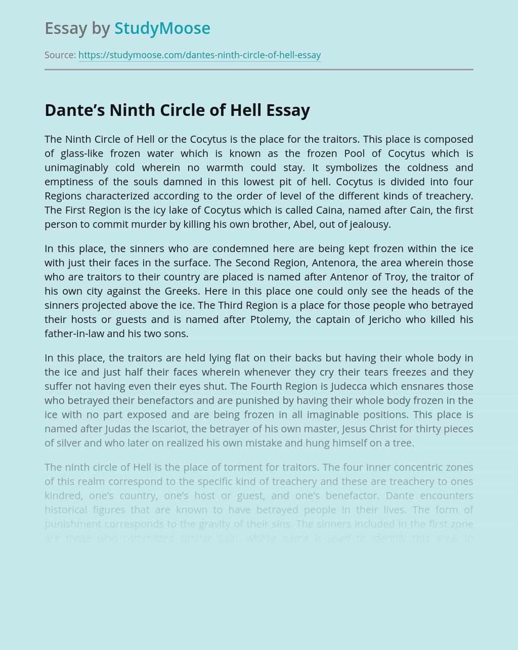 Dante's Ninth Circle of Hell