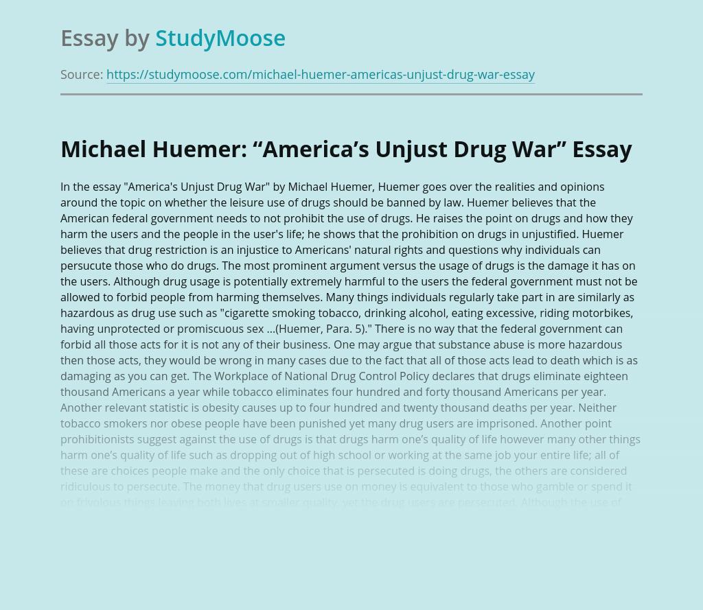 "Michael Huemer: ""America's Unjust Drug War"""