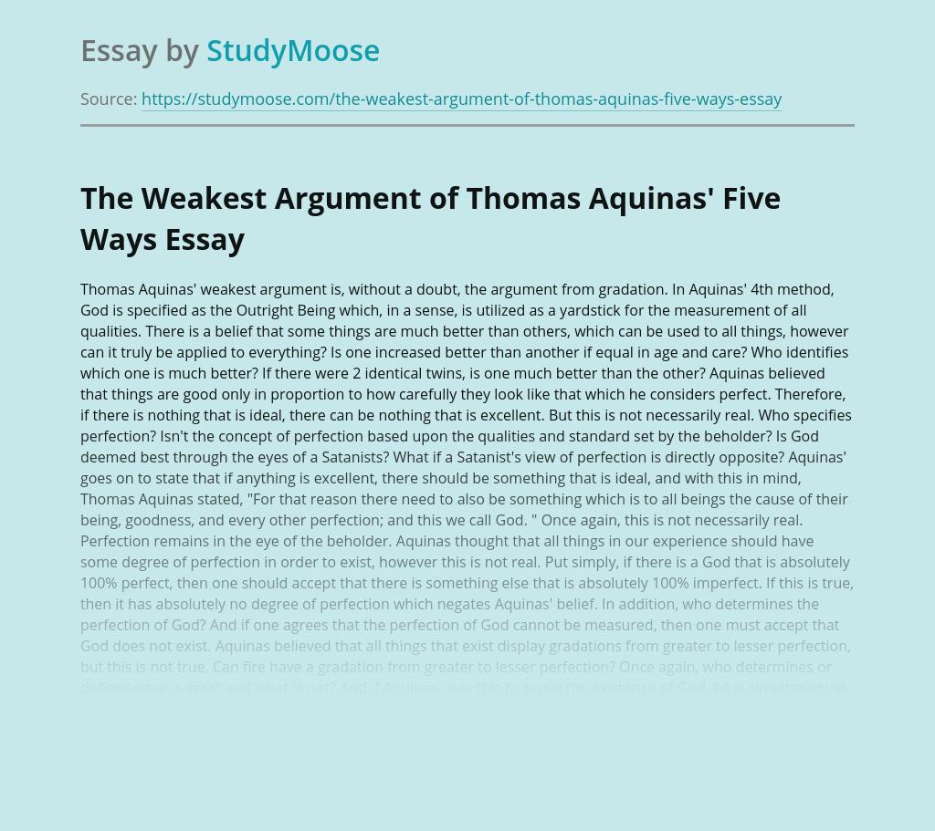 Thomas Aquinas on Perfection of God