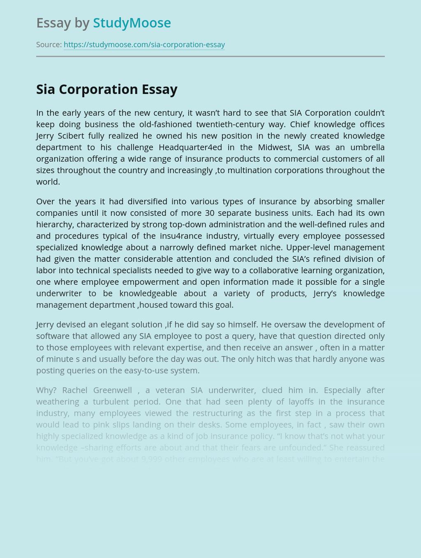Sia Corporation