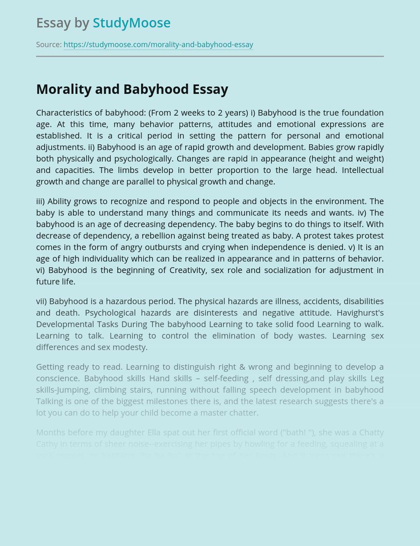 Morality and Babyhood