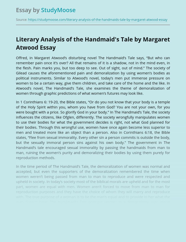 Handmaid's Tale Novel Reading