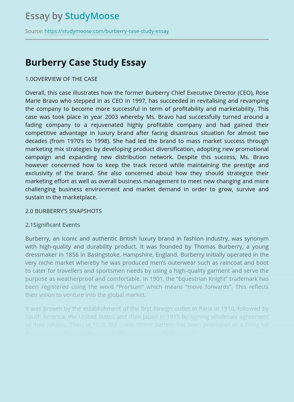 Burberry Case Study