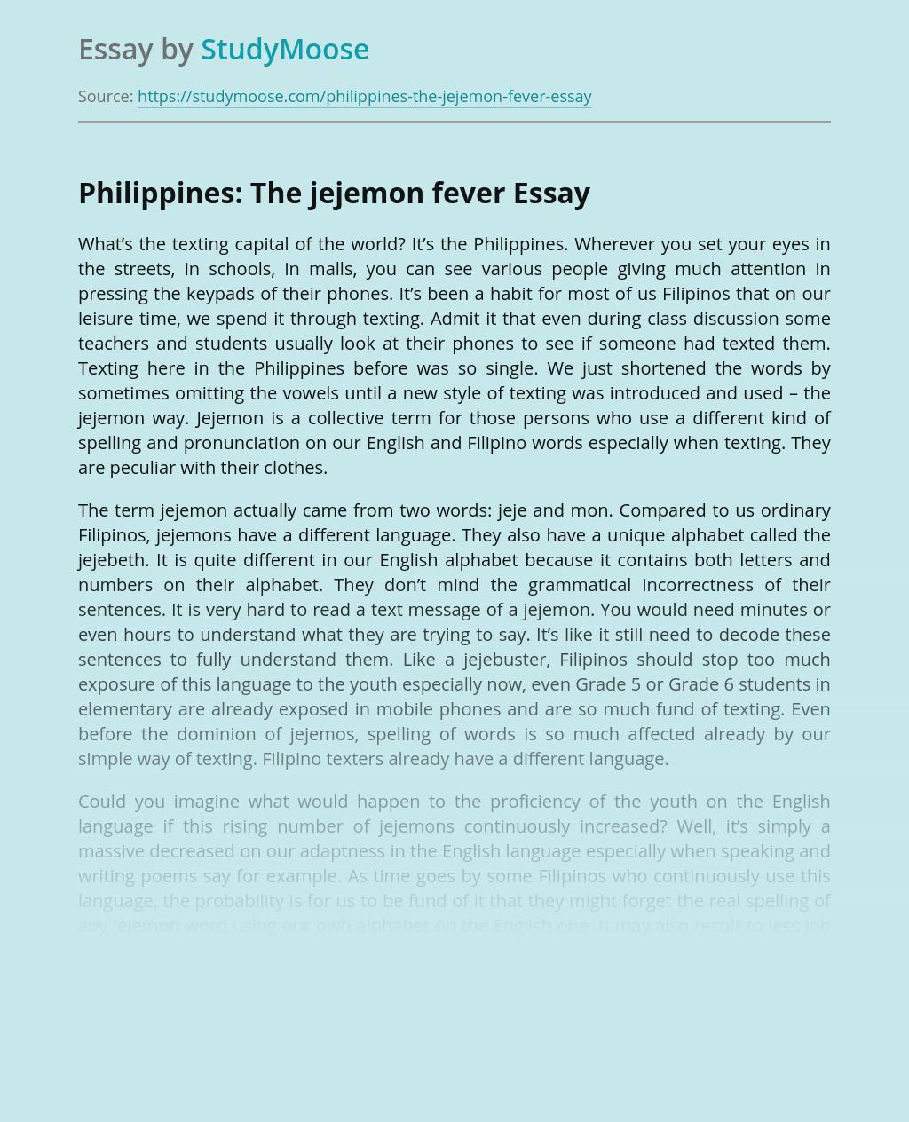 Philippines: The jejemon fever