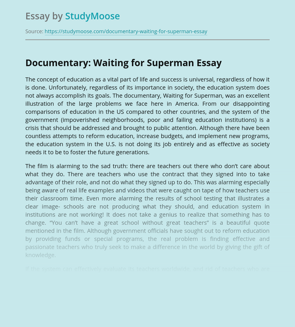 Documentary: Waiting for Superman