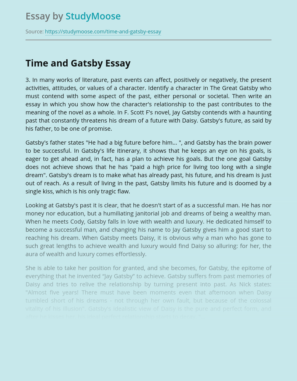 Time and Gatsby