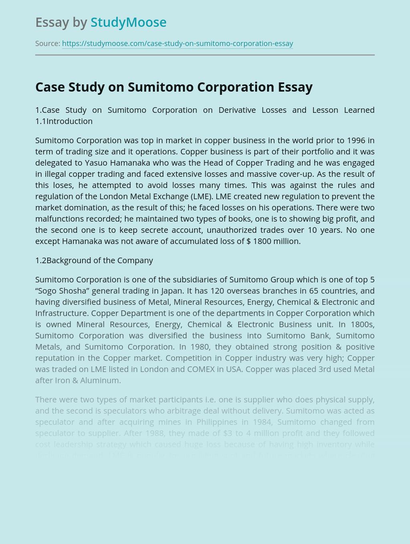 Case Study on Sumitomo Corporation