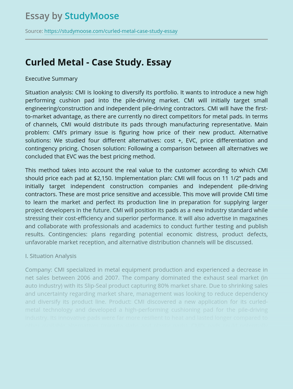 Curled Metal - Case Study.