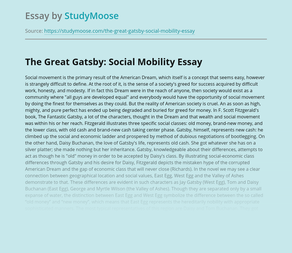 The Great Gatsby: Social Mobility