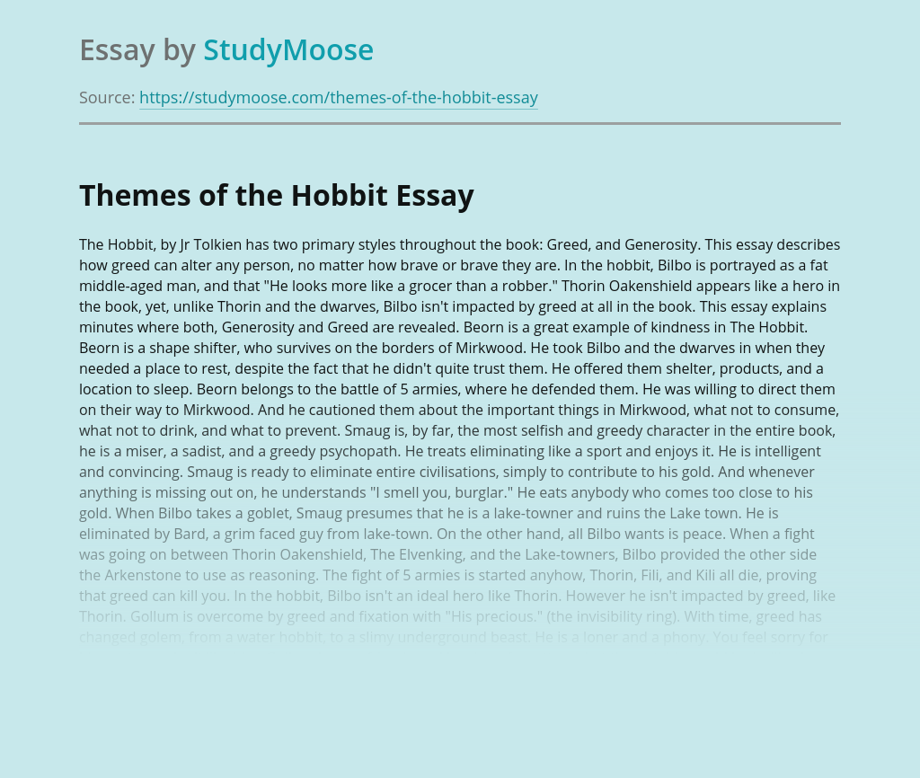 Themes of the Hobbit