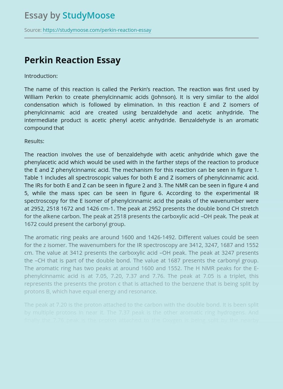 Perkin Reaction