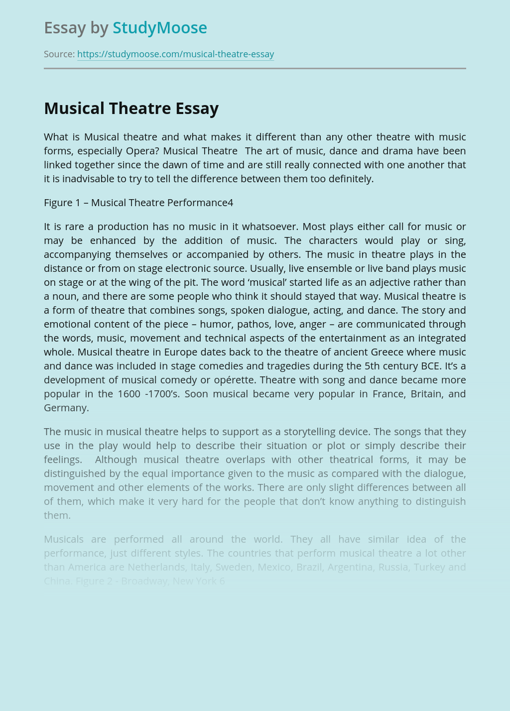 Essay musical new understanding cover letter for at risk youth position
