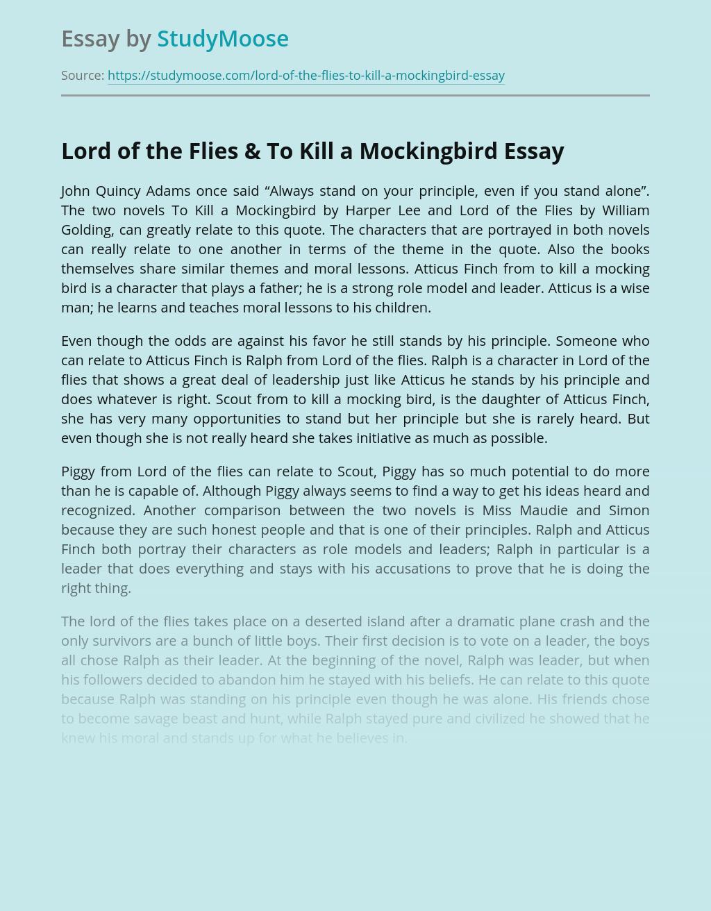 Lord of the Flies & To Kill a Mockingbird