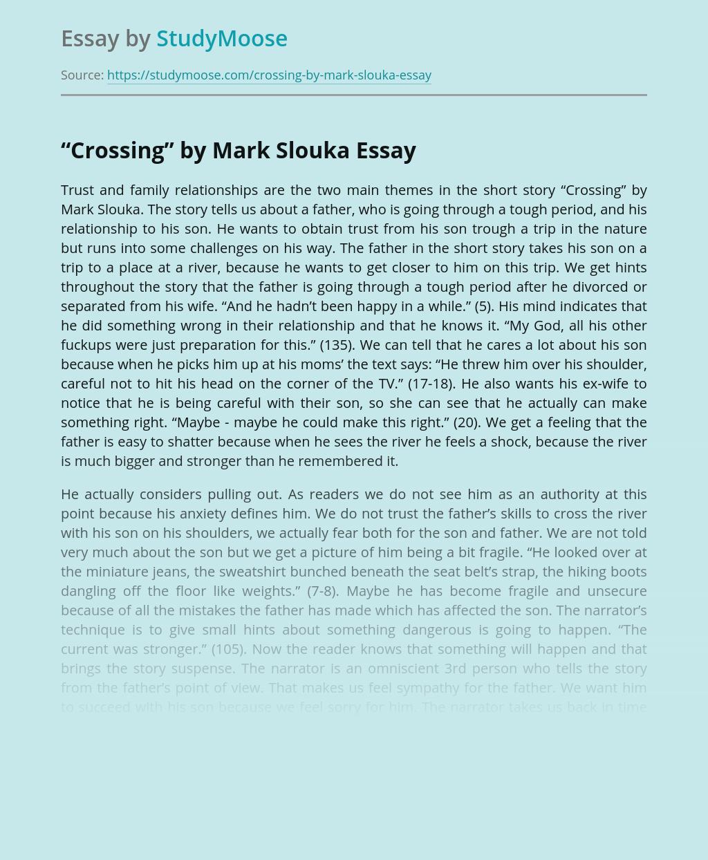 "Short Story ""Crossing"" by Mark Slouka"