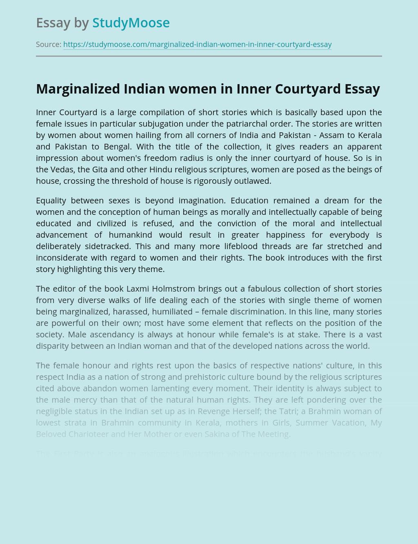 Marginalized Indian women in Inner Courtyard