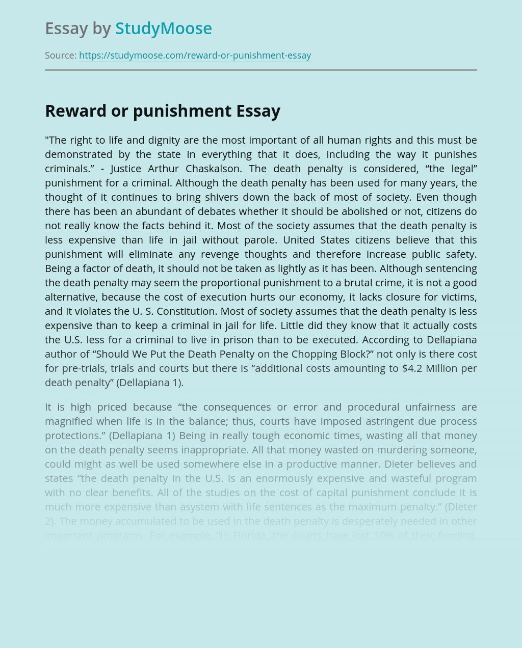 Essay on should capital punishment be given to the criminals examples of ethical research papers