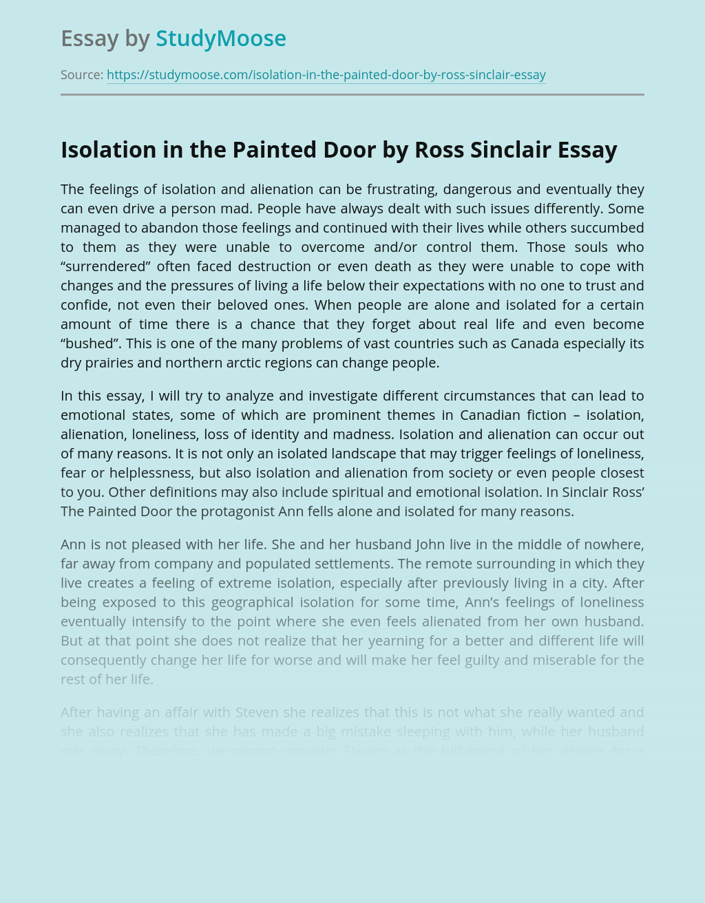 Isolation in the Painted Door by Ross Sinclair