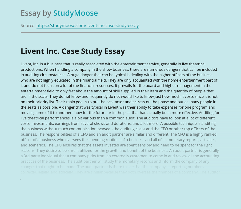 Livent Inc. Case Study