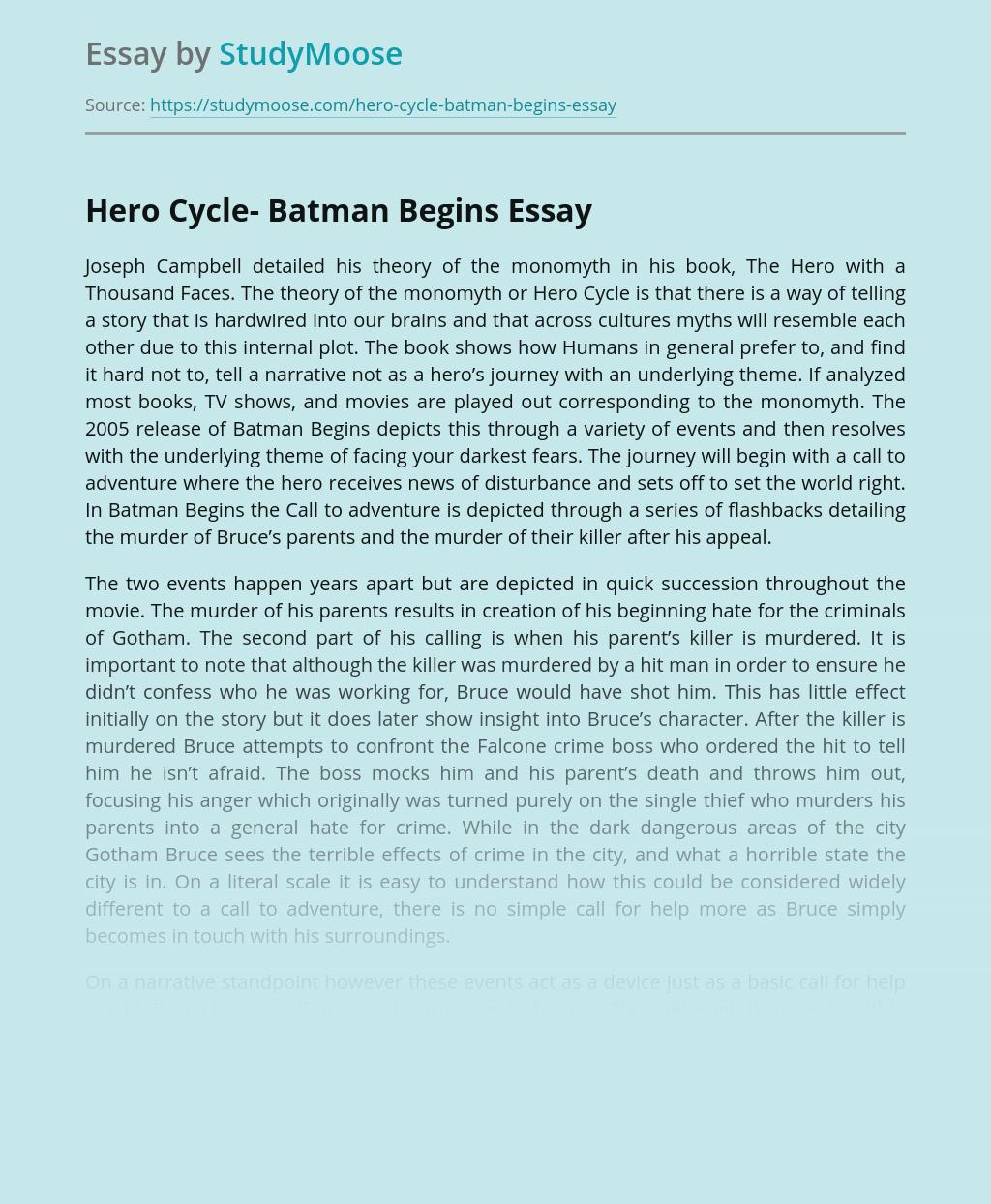 Hero Cycle- Batman Begins