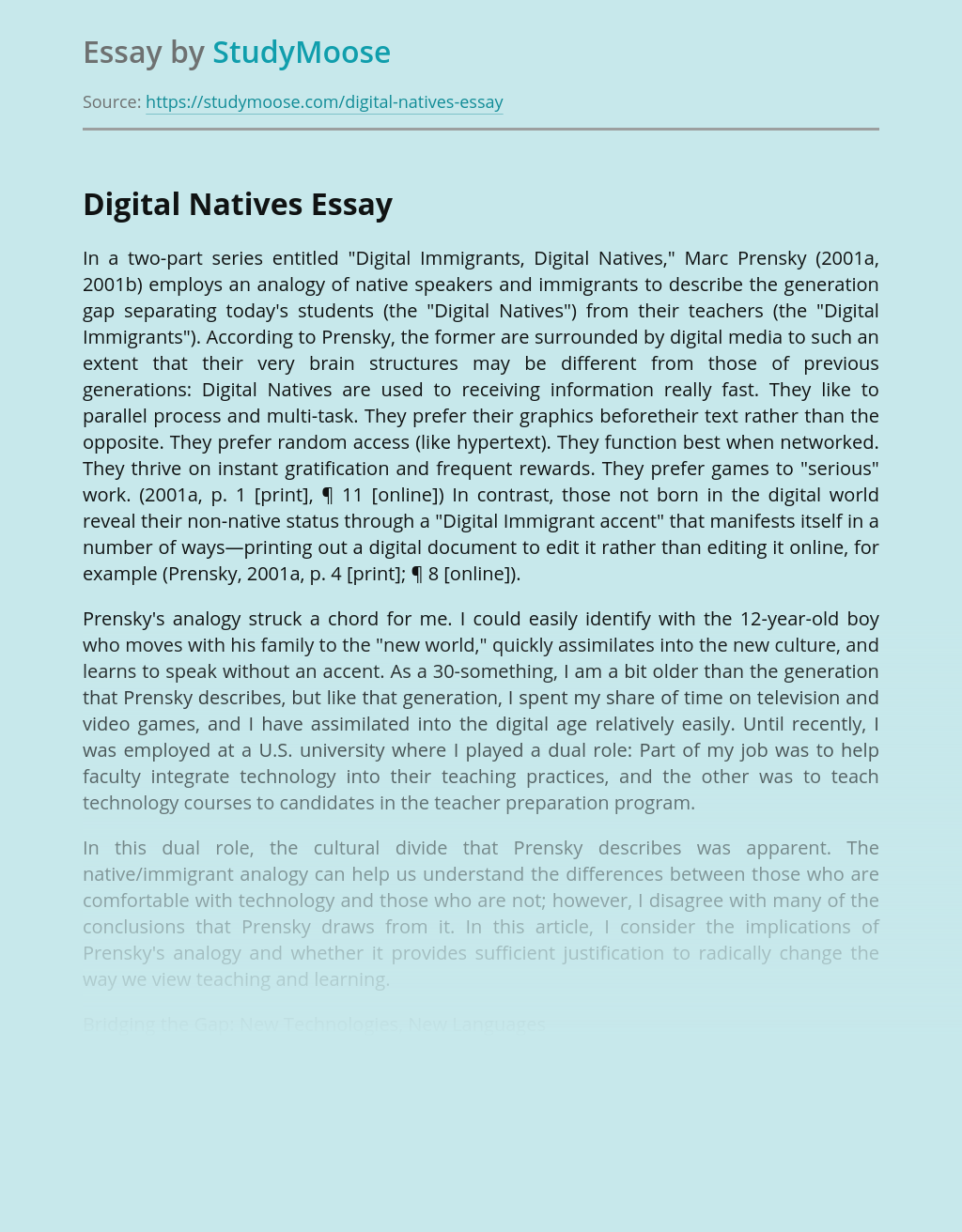 Which Generation Are Digital Natives?