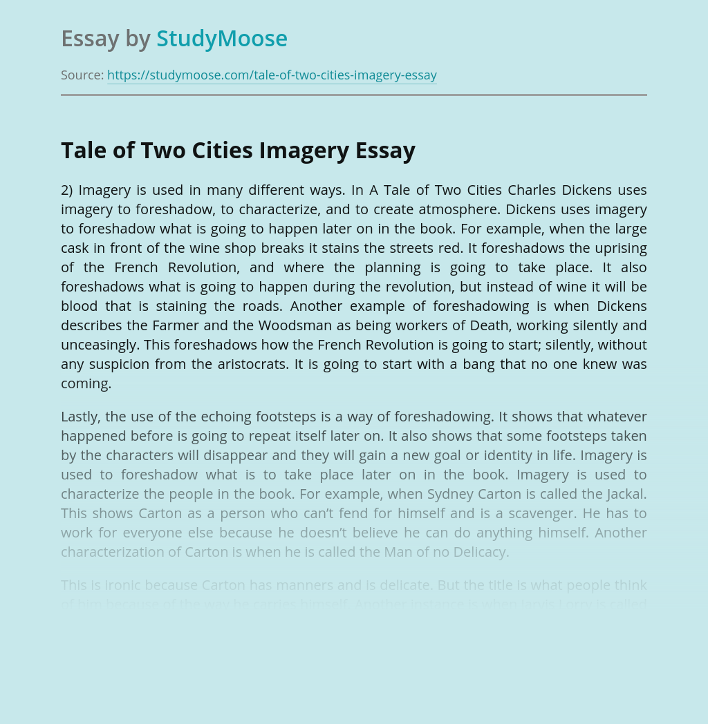 Tale of Two Cities Imagery