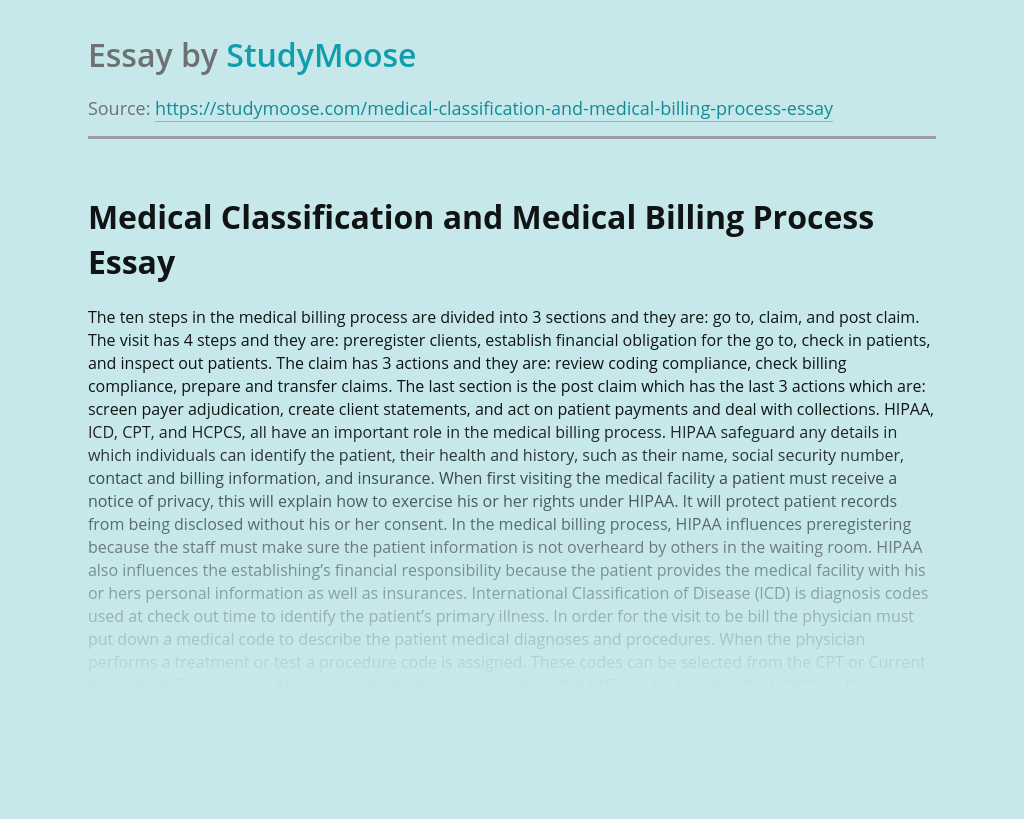 Healthcare and Medical Billing Process