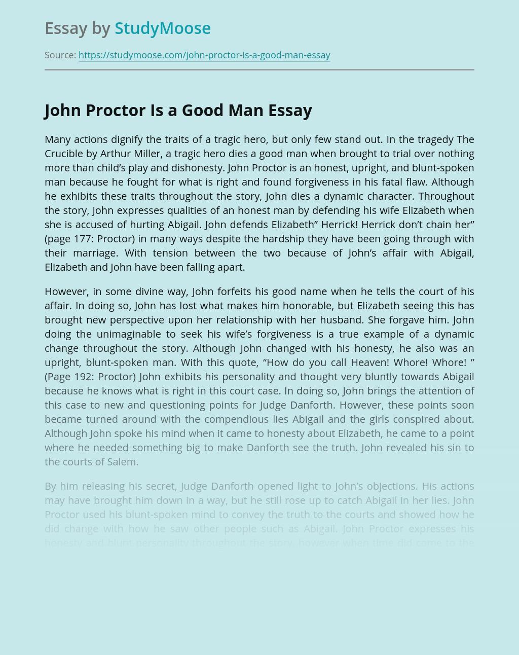 John Proctor Is a Good Man